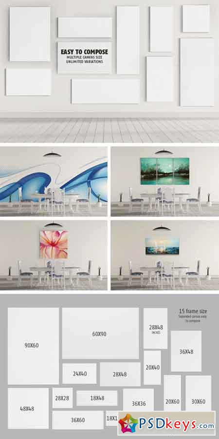 Art Wall Mock Up Dining Room Scene 910776