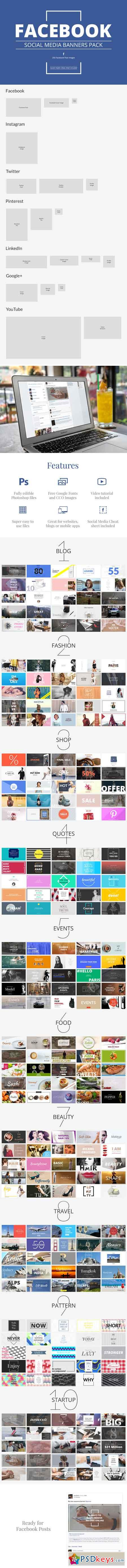 Facebook Social Media Banners Pack 716414
