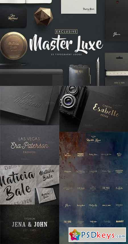 Master Luxe Typography Logos 983592