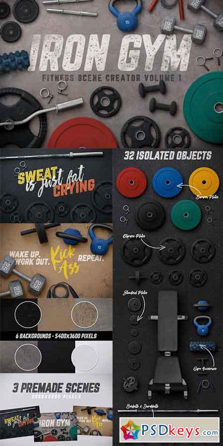 Iron Gym Scene Creator Volume 1 956854