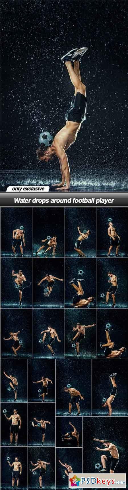Water drops around football player - 23 UHQ JPEG