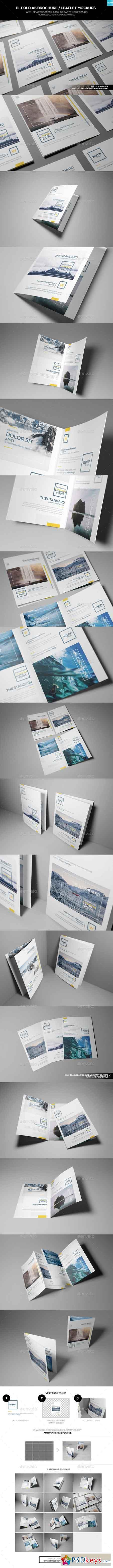 Bi-Fold A5 Brochure Leaflet Mockups 16745845