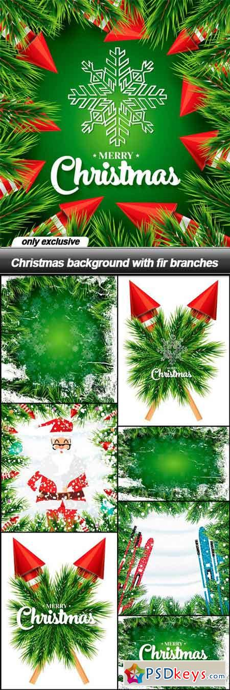 Christmas background with fir branches - 8 EPS
