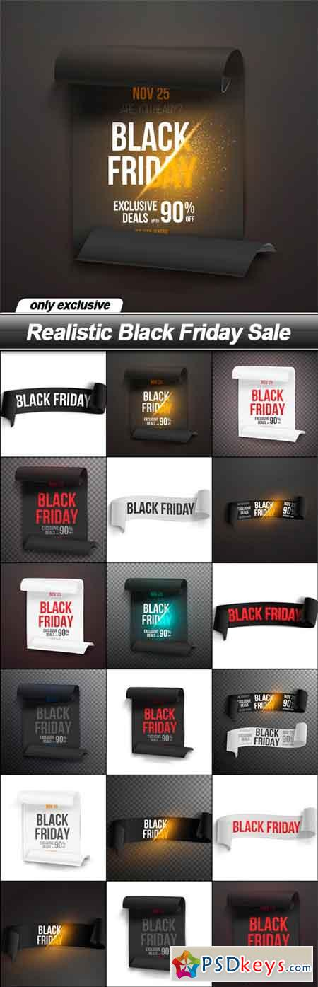 Realistic Black Friday Sale - 18 EPS