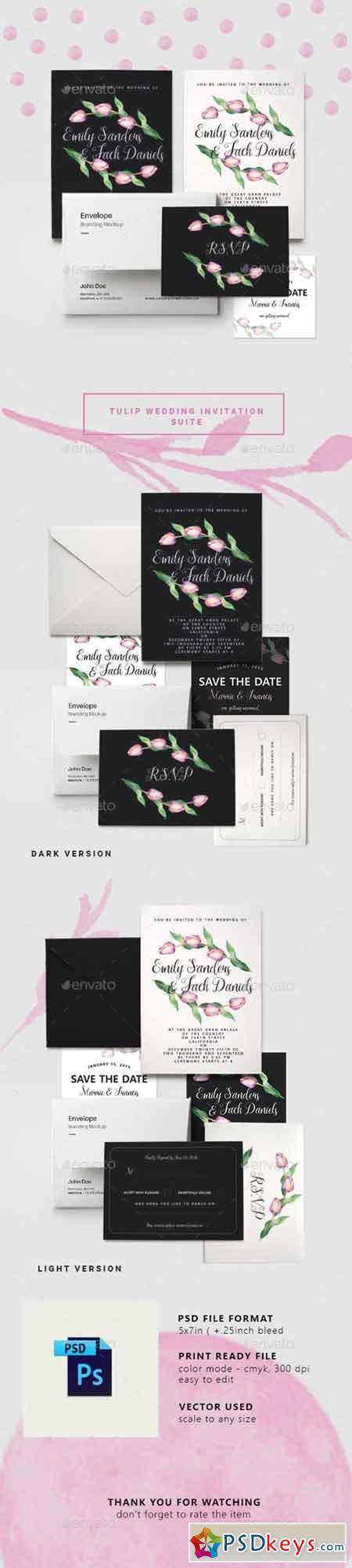 Tulip Wedding Invitation Suite 17999948