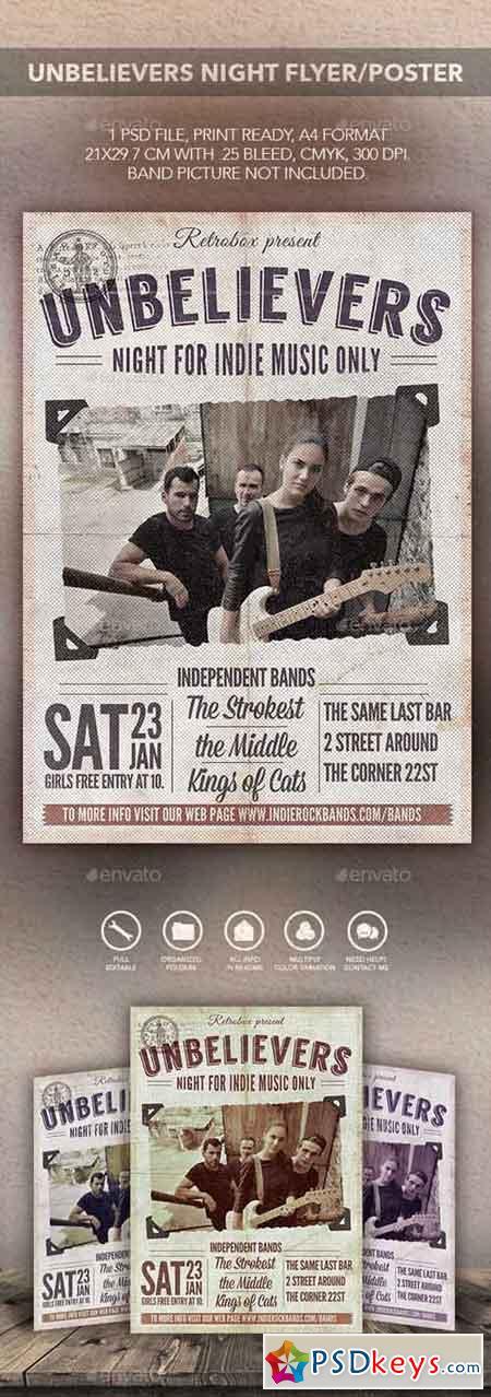 Unbelievers Night Flyer Poster 14107848
