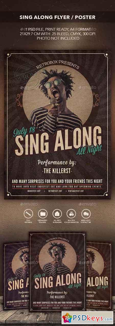 Sing Along Flyer Poster 13289000