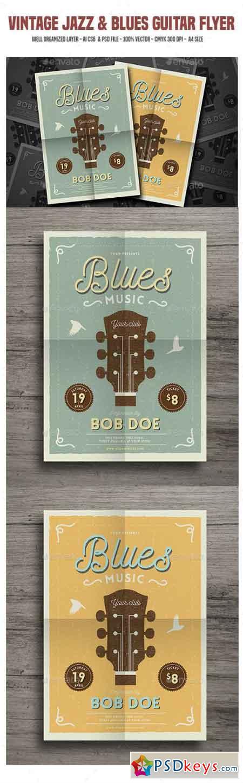 Vintage Jazz & Blues Guitar Flyer 18528441