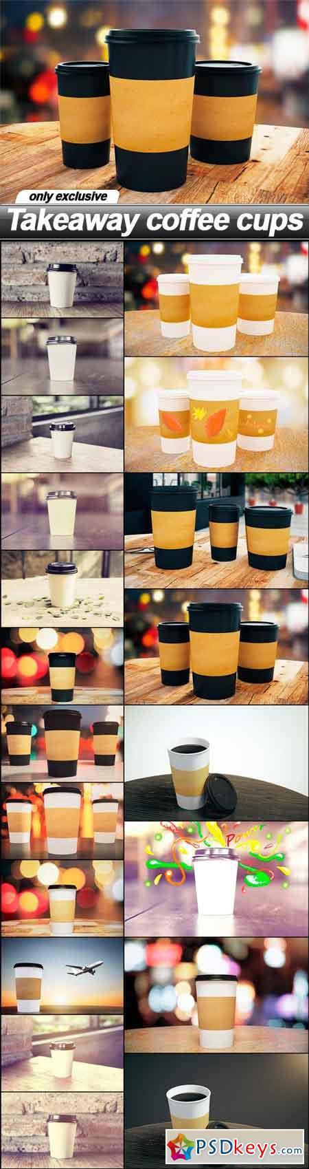 Takeaway coffee cups - 20 UHQ JPEG