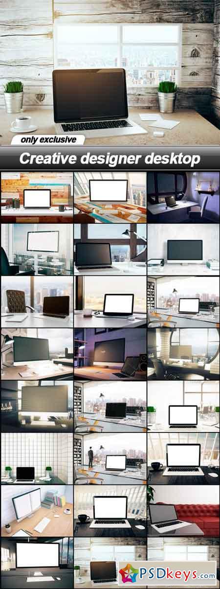 Creative designer desktop - 24 UHQ JPEG