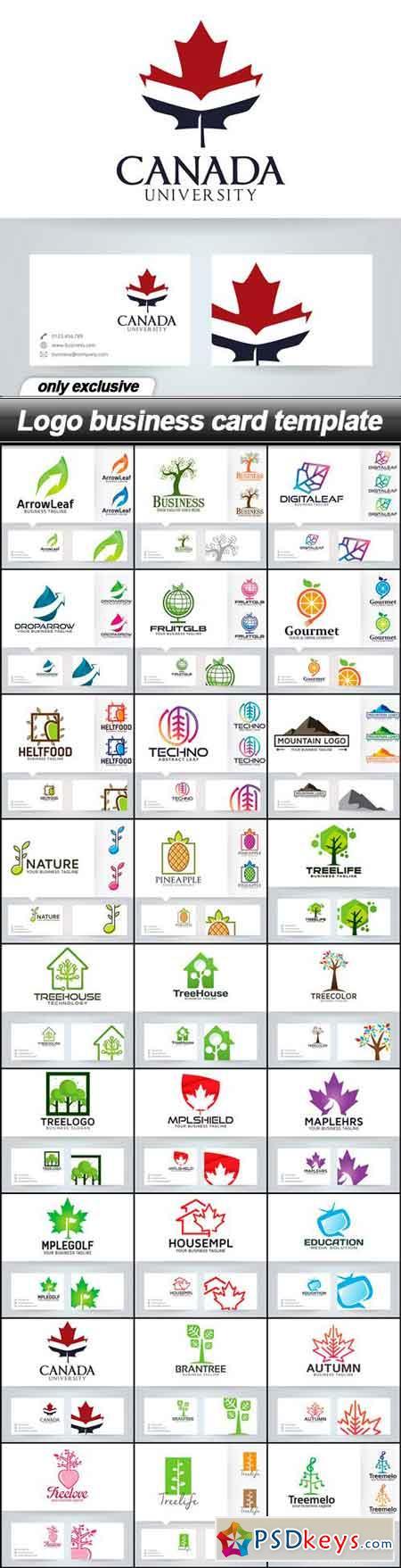Logo business card template - 27 EPS