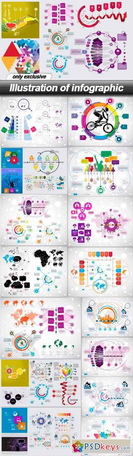 Illustration of infographic - 16 EPS