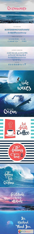 Oceanwaves Typeface 761502