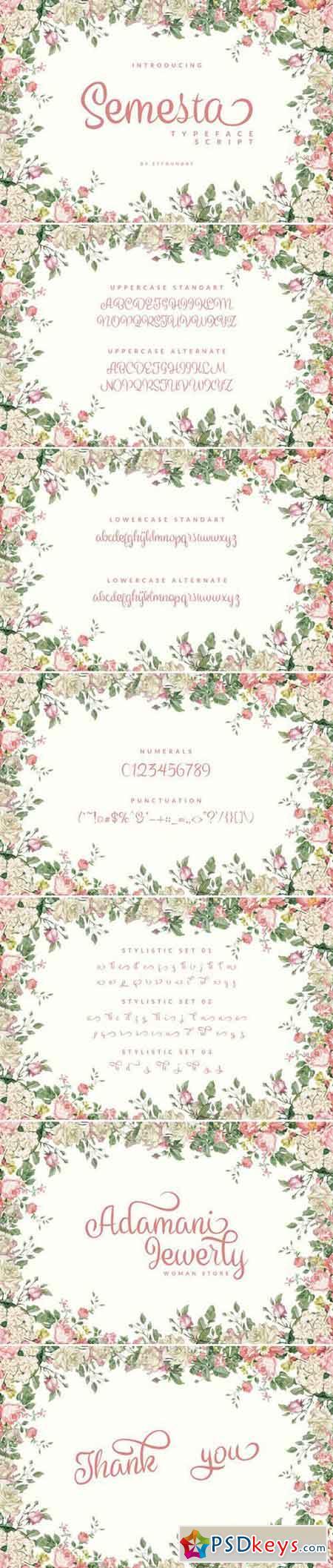 Semesta Typeface Script 977736