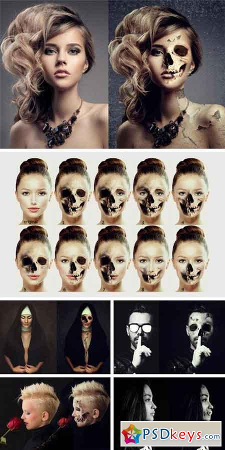 Skull Face Ps Action 968895