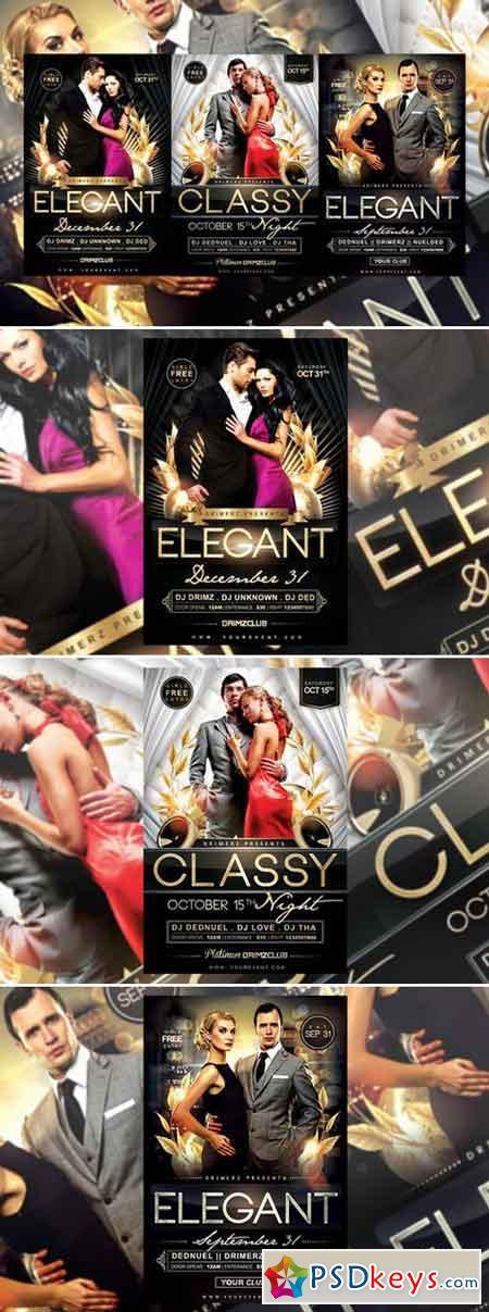 3 in 1 elegant flyer bundle 956178 free download photoshop vector