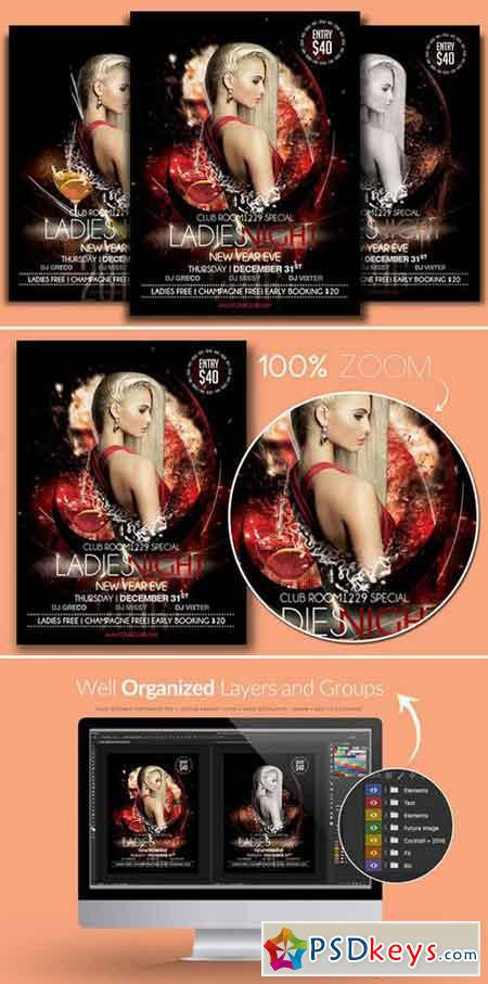 NYE Ladies Night Flyer Template 941760