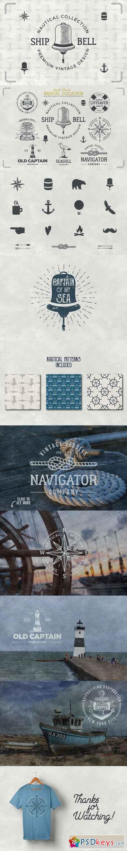 Vintage Nautical Logo Collection