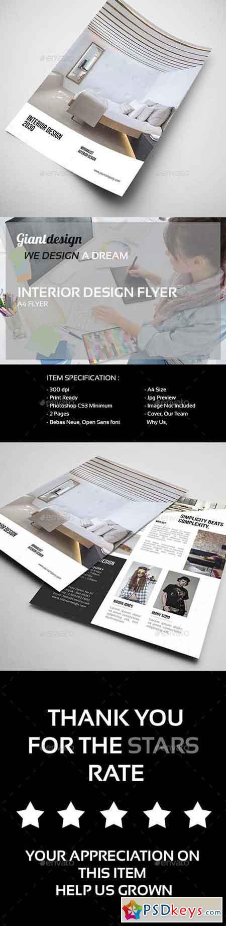 Interior Design - A4 Flyer 13853137