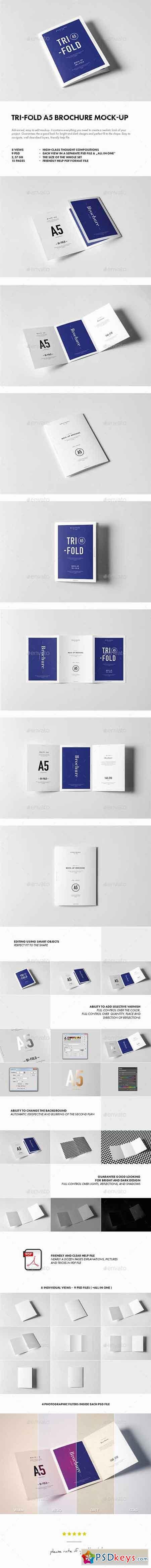 Tri-Fold A5 Brochure Mock-up 17976483