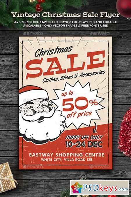 Vintage Christmas Sale Flyer 13706714