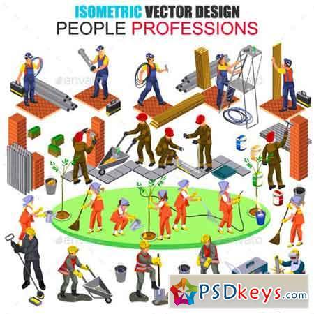 Isometric Professions People Vector 18205128