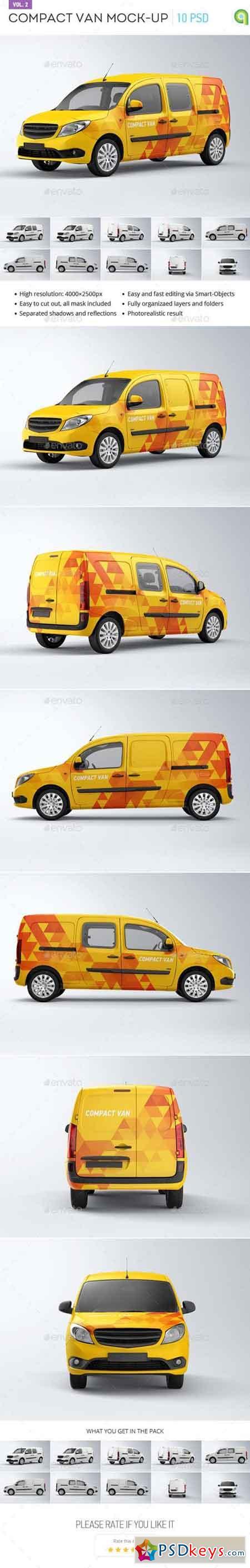Compact Van Mock-up vol.2 14057574