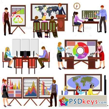 Flat Design Office Workers 18302778