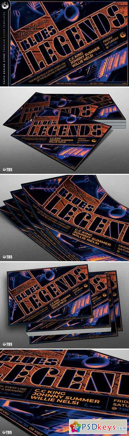 Blues Legends Flyer Template 898405