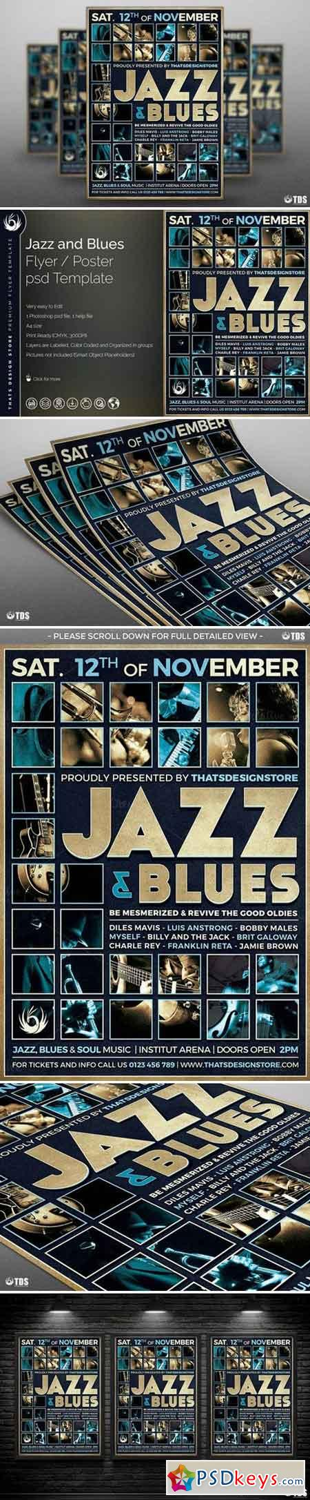 Jazz and Blues Flyer Template 797260