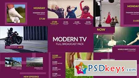 Modern TV - Full Broadcast Pack 18477591 - After Effects Projects