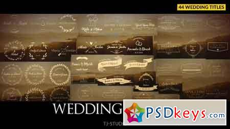 Wedding Titles 17622074 - After Effects Projects