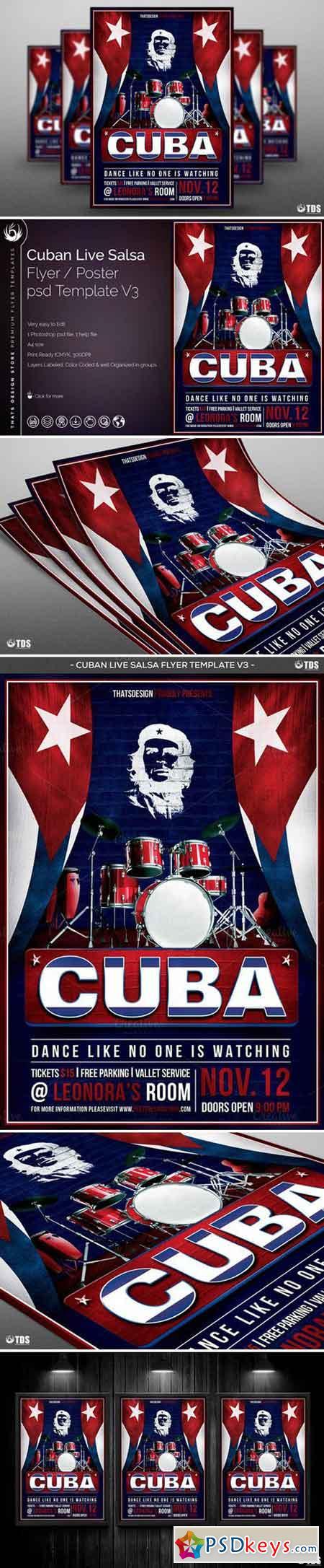 Cuban Live Salsa Flyer Template V3 871673