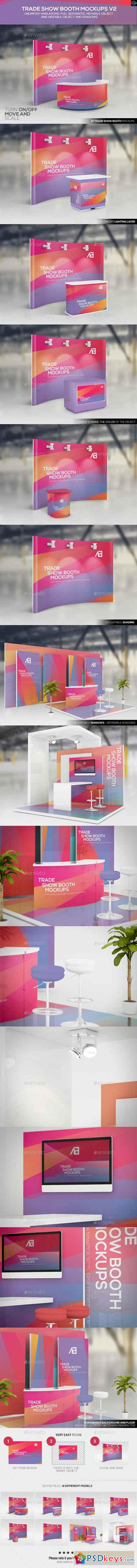 Trade Show Booth Mockups V2 11170591 » Free Download Photoshop