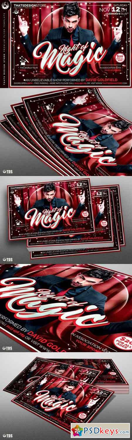 Magic Performer Flyer Template V3 724423