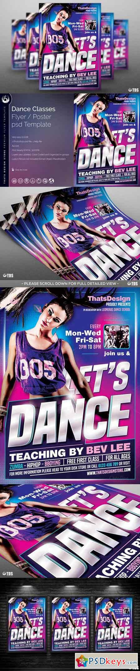 Dance Classes Flyer Template 764061