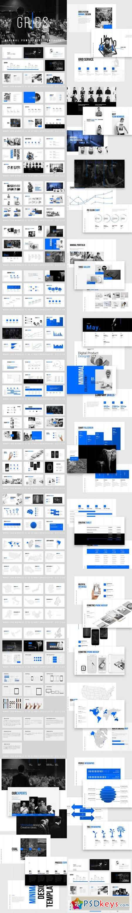 Grids-Minimal Powerpoint Template 849891