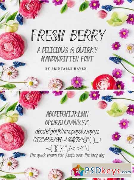 Fresh Berry Handwritten Font 992389