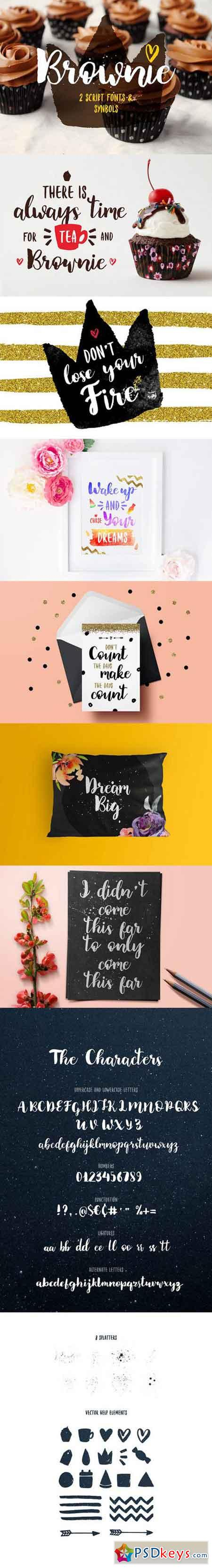 Brownie Brush Fonts 1004297
