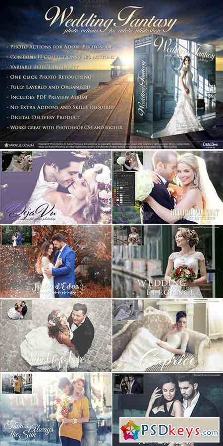 Actions for Photoshop Wedding 1005939