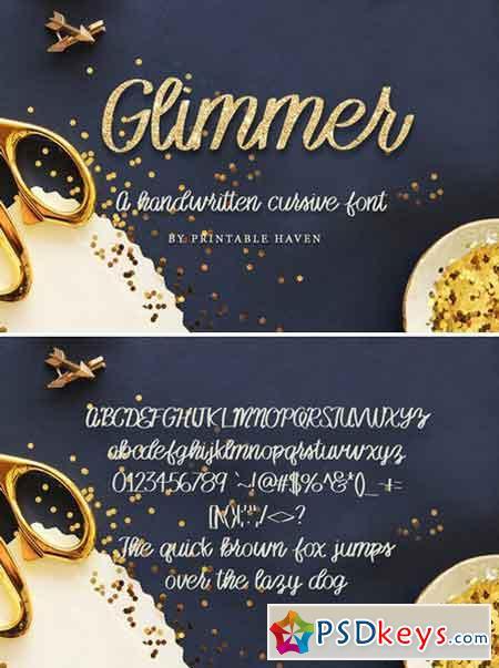 Glimmer Cursive Font 992760