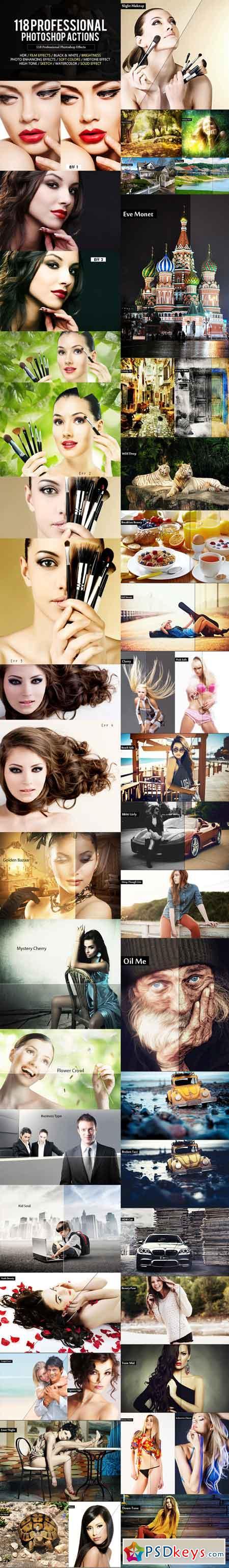 118 Professional Photoshop Actions Bundle 18360409