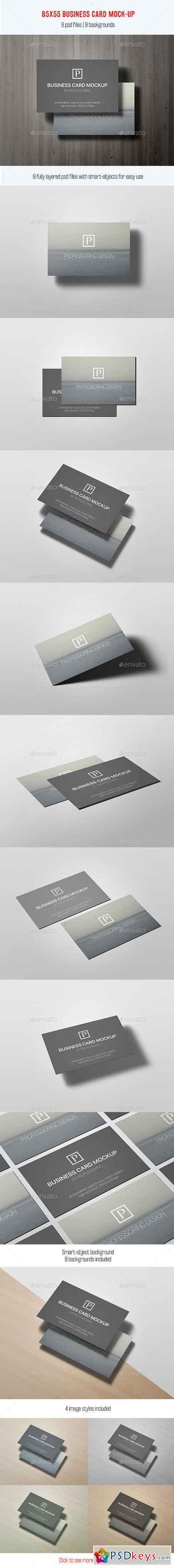 85x55 Business Card Mock-Up Vol. 2 12578507