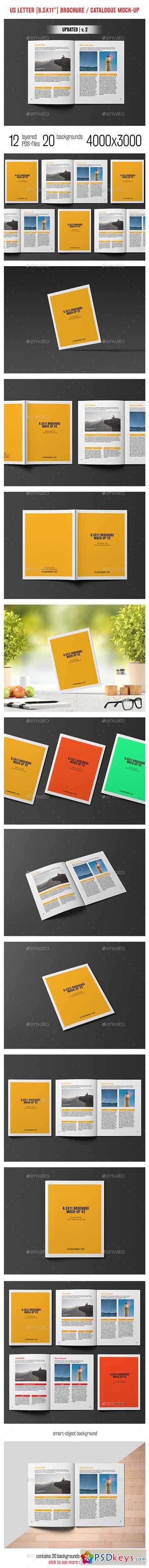 8.5x11'' Brochure Catalogue Mockup 9801580