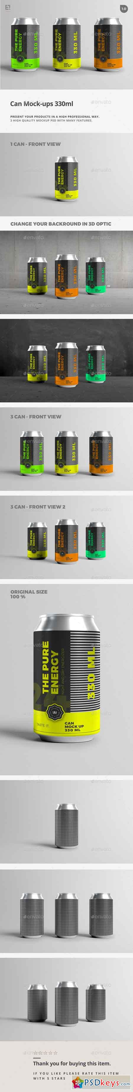 Can Mock-Up - 330ml 17564788