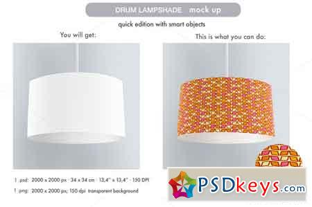 Drum Lampshade Mock Up 538164