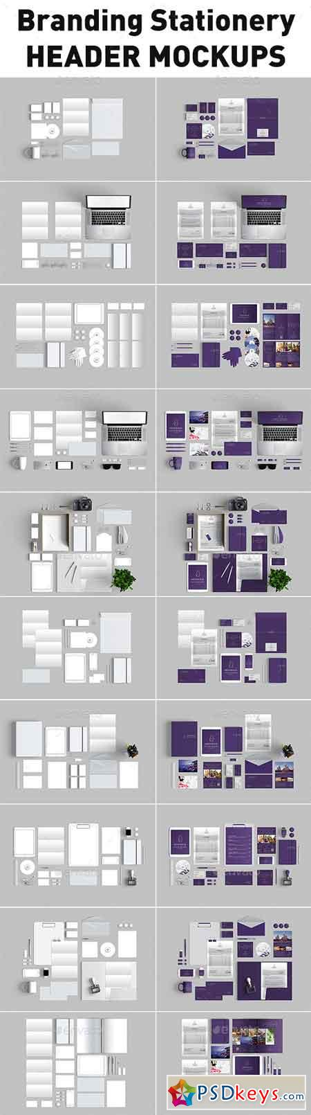 10 Branding Stationery Mockups 11033440