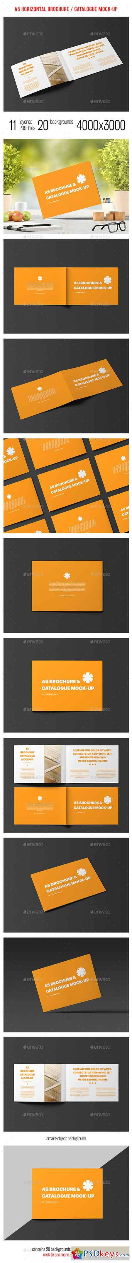 A5 Horizontal Catalogue Brochure Mock-Up 14425923