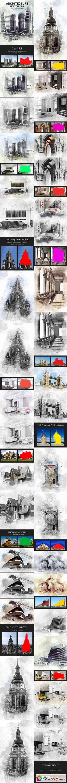 Architecture Sketch Art Photoshop Action 18366722