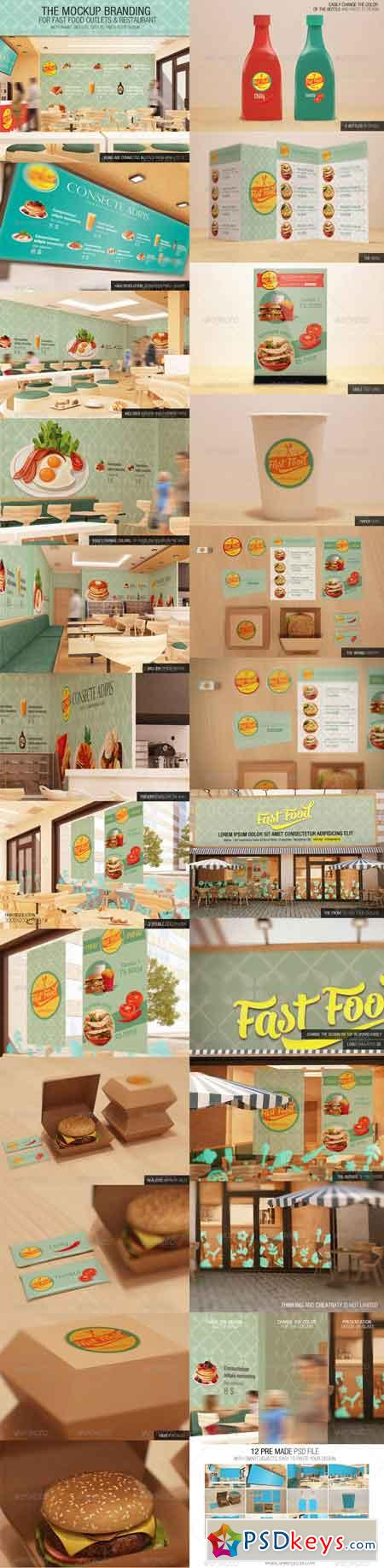 The Mockup Branding For Fast Food Outlets 7408488